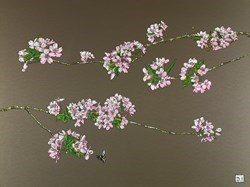 Bee and Blossom by Dylan Izaak -  sized 32x24 inches. Available from Whitewall Galleries